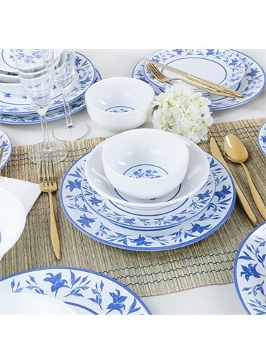 Keramika Blue Dream Yemek Takımı 6 Kişilik 24 Parça - 19810/17 Renkli